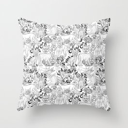 Puma Concolor Coryi- Endangered Species Throw Pillow