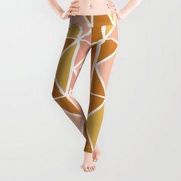 Blush and Terracotta Shapes Leggings