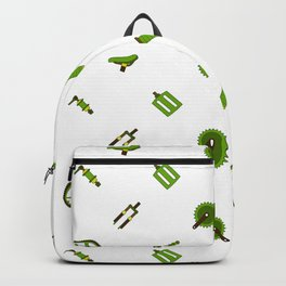 Bicycle Parts Pattern Amn Backpack