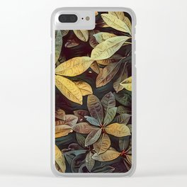 Inspired Foliage Clear iPhone Case
