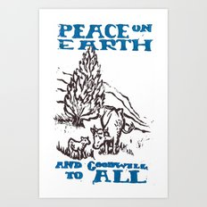 Peace on earth 2014 Art Print