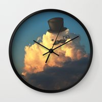 gentleman Wall Clocks featuring Gentleman by Lili Batista