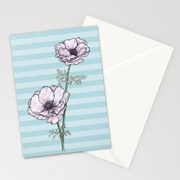 Anemone Stripes Stationery Cards