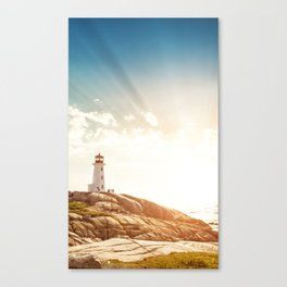 Peggy's Cove lighthead in halifax Canvas Print