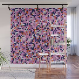 Knitted multicolor pattern 5 Wall Mural