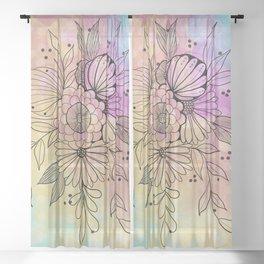 My Zen Art Sheer Curtain