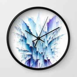 Pineapple crown - galactic glitch Wall Clock
