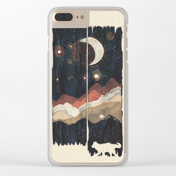 A Starry Night in the Mountains... Clear iPhone Case