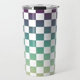 Multicolor Gradient Checker Travel Mug