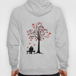 tree of love with lovely couple Hoody