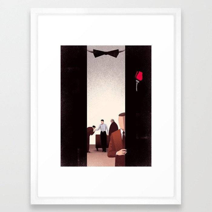 The Godfather Framed Art Print by davidebonazzi | Society6
