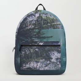 Pragser Wildsee lake Italy Backpack