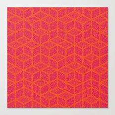 Kenna (Rubine Red and Orange) Canvas Print