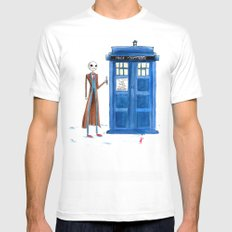 Doctor Wholington, Pumpkin Time Lord King! MEDIUM Mens Fitted Tee White
