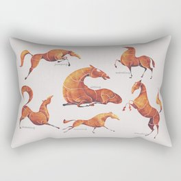 Horse poses Rectangular Pillow