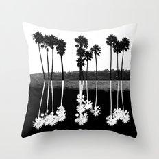 Palm Tree Reflection Throw Pillow