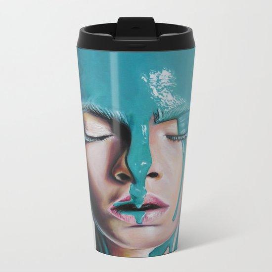 Paint on Cara Metal Travel Mug