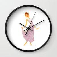 helen Wall Clocks featuring Helen 1935 by nwelli