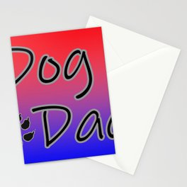 Dog Dad - Red Blue Stationery Cards
