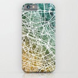 Paris France City Street Map iPhone Case