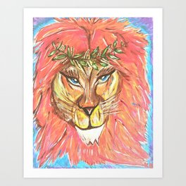 She: A Lion/ess Portrait Art Print