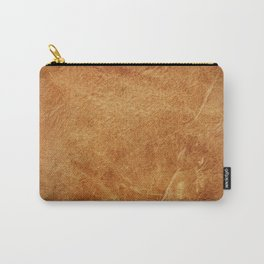 Brown leather texture vintage background.  Carry-All Pouch