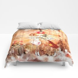 Love gives you Wings Comforters