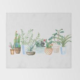 Plants Throw Blanket