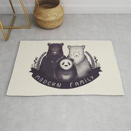 Modern Bear Family Rug