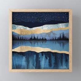 Midnight Lake Framed Mini Art Print