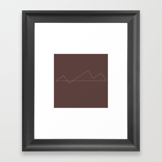 #31 Minimal Mountains – Geometry Daily Framed Art Print