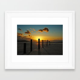 Golden sunset Framed Art Print