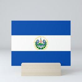 El Salvador Flag Salvadoran Flag Mini Art Print