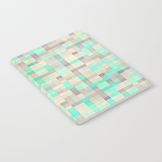 Pastel Pixels  Aqua & Lavender Notebook