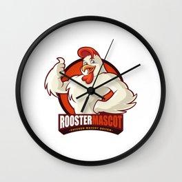 Mascota Pollo Comida O Negocios Agricolas Wall Clock