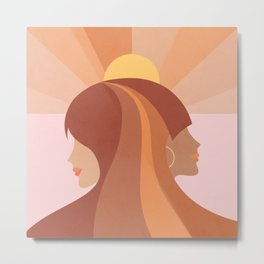 Soul Sisters - Girl power portrait Metal Print