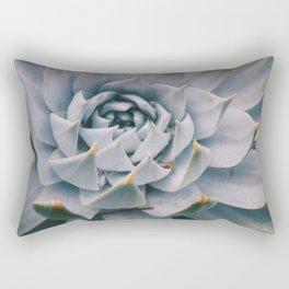 Pale Succulent Center Rectangular Pillow