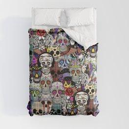 Halloween skulls Comforters