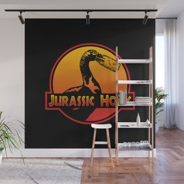 Jurassic Honk Goose, Untitled Goose Game Meme, Gander Dinosaur Park Honk Annoying Geese Master Bird Home Office Decor Idea Wall Mural