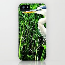 Heron On The Trails iPhone Case