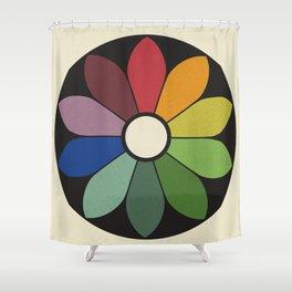 James Ward's Chromatic Circle Shower Curtain