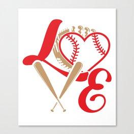 Baseball Lovers Softball Mom Fan Gift Canvas Print