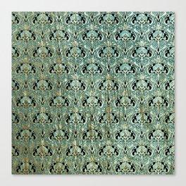 Art nouveau, teal,gold,pattern,belle époque,chic Canvas Print