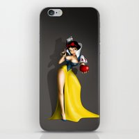 snow white iPhone & iPod Skins featuring Snow White by Greg-guillemin