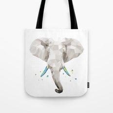 Geosafari | Elephant (White) Tote Bag