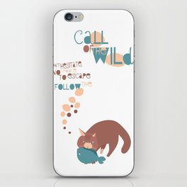Call of the Wild cat iPhone Skin