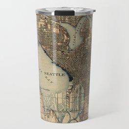 Vintage Map of Seattle Washington (1908) 2 Travel Mug