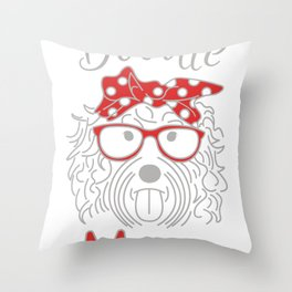 Retro Bernadoodle Cool Goldendoodle Tee Shirt GiftCute Doodle Mom Cute Aussiedoodle Graphic Men Throw Pillow