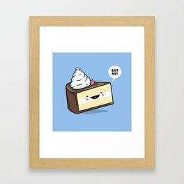 Eat Me! - Wonderland Kawaii Cake Framed Art Print