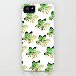 leafs vintage style iPhone Case